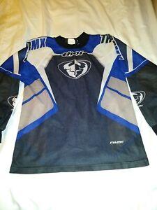 Boys Thor Motocross Shirt Blue/Black Size 12/14