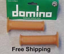 """Tommaselli / Domino Natural Rubber Grips 7/8""""  Vintage Cafe Racer, Bobber  #1"""
