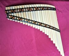 Left Handed Natural Bamboo 25 Pipes Panflute  from Peru