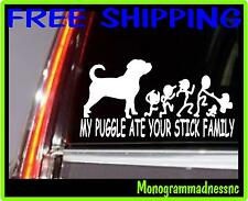 My Puggle Ate Your Stick Family Vinyl Decal Sticker Car Truck