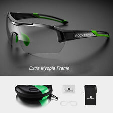 RockBros Photochromic Bicycle Cycling Glasses Bike Sunglasses Sports Eyewear Green