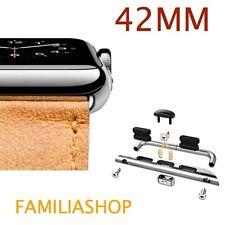 1 Pair Adapter Connector Grey Argent Bracelet Apple Watch 42MM 42 MM
