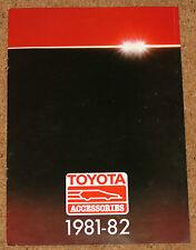 1981-82 TOYOTA ACCESSORIES Sales Brochure - Audio, Alloy Wheels, Clothing etc