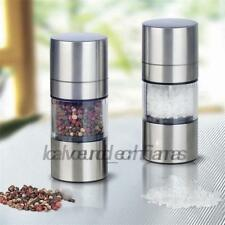 Silver Stainless Steel Manual Salt and Pepper Mill Grinder Cooking AU Local
