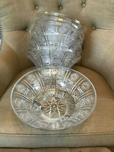 Plastic Christmas Winter Punchbowls - Lot of 6 - Durable - Never Used - Mint