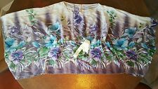 Women's Famosa Floral Drawstring Top - Flowy Sleeves Size Small