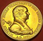 Gem Unc Martin Van Buren Presidential Bronze Inauguration Medallion~Free Ship