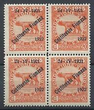 Fiume 1922 Sc# 164 Italy block 4 MNH