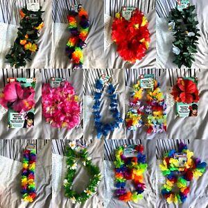 Hawaiian Lei Gardland/ Hair clips/ Bunting - Fancy Dress - Range of colours