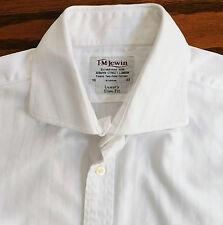 Classic white cufflink shirt Collar size 16 inch T M Lewin slim fit woven stripe