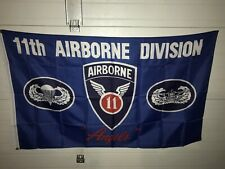 """New listing 11 Th. Airborne Division """"Angels� 3'x5' Polyester Flag."""
