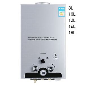 8/10/12/16/18L Instant Gas Hot Water Heater Tankless Gas Boiler LPG Propane  UK