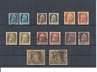 Bayern 1911, Paare aus Michenummern: 76 - 86 I + II o, gestempelt, zur Auswahl
