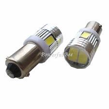 2 x BA9S T4W car moto led 3W white amber clearance side indicator fog light bulb