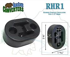 "RHR1 Exhaust Mount Rubber Insulator Grommet Hanger Bushing 1/2"" Rod Support"