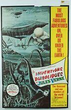 Rare Vintage Les Inventions Diaboliques de Jules Verne Warner Bros Movie Poster