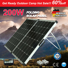 SUNPOWER 200W 12V Folding Solar Panel Charger with Regulator for Camping battery