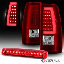 For 99-02 Silverado/Sierra R/C Light-Bar LED Tail Lights + LED 3rd Brake Cargo