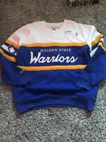 NEW Men's Golden State Warriors Mitchell & Ness Coaches Crew Neck Sweater 2XL