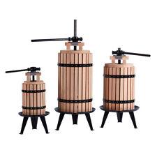 Oak/Steel Cider Wine Fruit Press 6 & 22 Litre Free Pulp Strain Bag