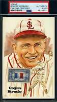 Rogers Hornsby PSA DNA Coa Autograph Hand Signed Perez Steele Stamp Postcard