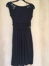 Miss Sixty Black Dress LBD Deep V Back Medium M