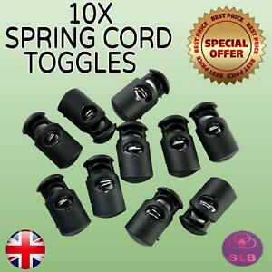 10 X Silicone Cord Locks Toggles Adjustable Elastic Spring Stopper (20mm X 10mm)