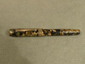 Miller 697 Füller braun marmoriert  vintage 585 Goldfeder
