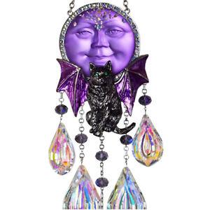 Kirks Folly Sabrina Bat Cat Empress Seaview Moon Ornament  silvertone