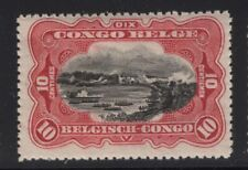 Belgian Congo 1915 5c Palm Tree & 10c River Scene Sc# 48 & 61 NH