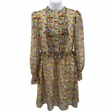PARIS ATELIER & Other Stories NWT Size 8 Yellow Floral Ruffle Waist Lined Dress