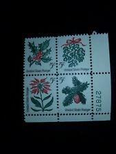 US Plate Block Scott #1254-7 5c Christmas MNH w/ Plate Number- # 798