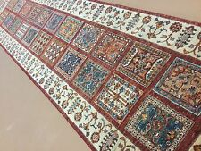 "2'.8"" X 10'.0"" Red Beige Oushak Persian Oriental Rug Runner Hand Knotted Wool"