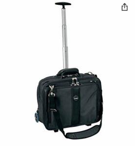 Kensington Contour Mobile Office Trolley Bag Case Wheels Handle Zips pockets