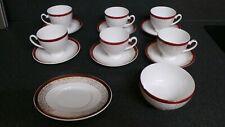 6 Royal Grafton Majestic Red Tea Cups & Saucers SUGAR BOWL