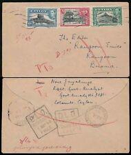 Handstamped George VI (1936-1948) Ceylon Stamps