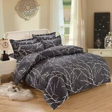 3 Piece Duvet Cover and Pillow Shams Bedding Set, 100% Cotton King Size
