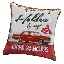 HOLDEN Heritage Canvas Fabric Cushion Pillow Stitched Man Cave Fathers Bar Gift