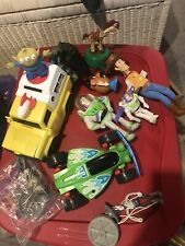 Lot Of Toy Story Figures & Pizza Planet Car