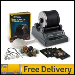 National Geographic Hobby Rock Tumbler Kit - Rough Gemstones, 4 Polishing Great