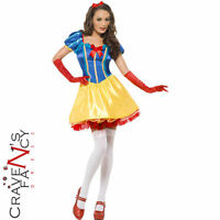 Ladies Snow White Costume Adult Fairy Tale Fairytale Fever Fancy Dress Outfit