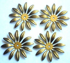 #1449 Vintage Brass Flower Connectors Spacer Stackable Flowers 47mm Flower Power