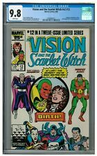 Vision and the Scarlet Witch #v2 #12 (1986) Key 1st Wiccan & Speed CGC 9.8 HH426