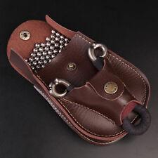 HOT Leather Case Waist Bag Pouch for Catapult Slingshot Steel Balls Ammo Game ES