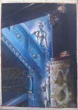 """L'ESCALIER"" mixte sur craft-SERGE VILLARD-1988/art brut/garouste/combas/bilal"