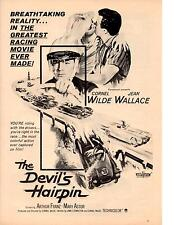 """1957 """"THE DEVILS HAIRPIN"""" MOVIE  ~  GREAT ORIGINAL MAGAZINE POSTER / AD"""