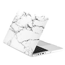 "White Marble Matte Hard Case for MacBook Pro 15"" with Retina Display Model A1398"