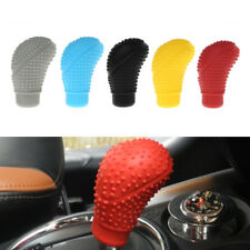 Red Silicone Oval Shape Nonslip Gear Shift Knob Cover Protector for Car