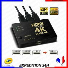 HDMI Switch 3Input Hub Switcher Splitter Box Port HDTV Multiprise pour Xbox PS3