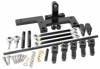 Aeroflow 4150 Series Dual Carburettor Blower Linkage Kit Black Finish